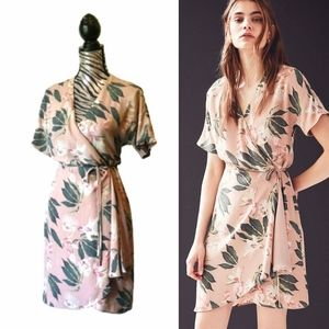 Babaton Wallace floral wrap dress